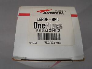 Andrew L6pdf rpc 7 16 Din Female Onepiece Connector For 1 1 4 Ldf6 50 Cable New
