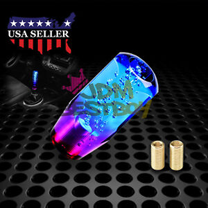 Shift Knob Stick Crystal Transparent Bubble Purple Blue Throw Gear Shifter 10cm