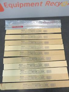 Starrett 667 22 Feeler Gage Steel Thickness Assortment New Lot Of 12
