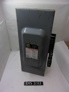 New Other Square D 240 Volt 100 Amp Fused Disconnect Safety Switch dis3313