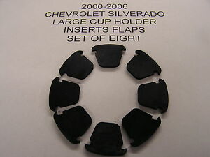 Chevrolet Silverado Console Large Cup Holder Insert Flaps Set Of 8 2000 06