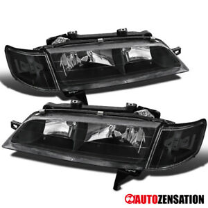 4pc For 94 97 Honda Accord Black Headlights Corner Signal Lights