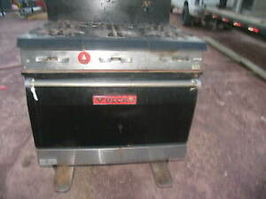 Vulcan Commercial Restaurant Kitchen 6 Six Burner Stove Gas Range Standard Oven