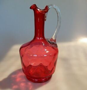 Cranberry Glass Dot Pattern Claret Sherry Decanter Victorian C 1870