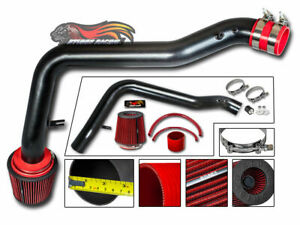 Matte Black Cold Air Intake Kit Red Dry Filter For 90 93 Integra All 1 7l 1 8l