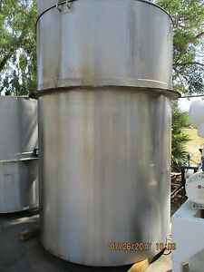 Lee 1650 Gallon Stainless Steel Insulated Mixing Tank