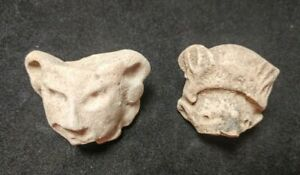 2 Mayan Cenote Yucatan Dig Pre Columbian Stone Ancient Artifacts Demon Heads L4z