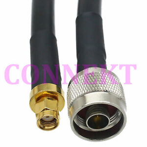 N Male Plug To Rp sma Male Jack Crimp Ksr400 rg8 Cable Jumper Pigtail 800cm