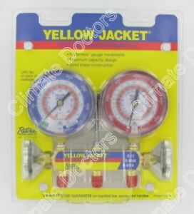 Yellow Jacket 42001 Series 41 Manifold Only R 22 404a 410a
