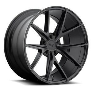 19 Staggered Niche Wheels M117 Misano Matte Black Rims And Tires Package