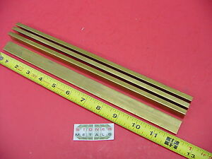 4 Pieces 1 4 X 3 4 C360 Brass Flat Bar 12 Long Solid 25 x 75 Mill Stock H02