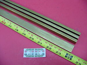 4 Pieces 1 4 X 3 4 C360 Brass Flat Bar 24 Long Solid 25 x 75 Mill Stock H02