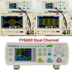 Fy6600 Function Signal Source Arbitrary Waveform 2 ch Dds Generator Kit 15 60mhz