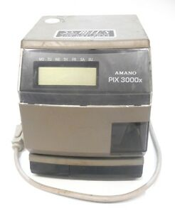 Amano Time Clock 20 Amp 120 Vac 50 60 Hz Low Ink No Key