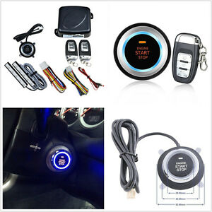 Upgraded Version 12v Car Truck Keyless Entry Engine Starter Button Remote Alarm