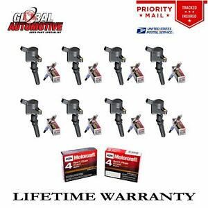 New Ignition Coils Motorcraft Spark Plugs Ford Lincoln Mercury Dg508 8pcs