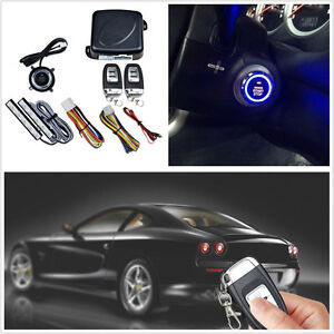 Upgraded Version 12v Autos Keyless Entry Engine Push Button Starter Alarm System
