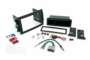 Chrysler Dodge Jeep Single Din Dash Kit For Radio Stereo W Wire Harness Antenna