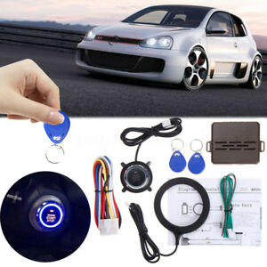 8 Pcs Car Keyless Entry Engine Start Alarm System Push Button Remote Starter