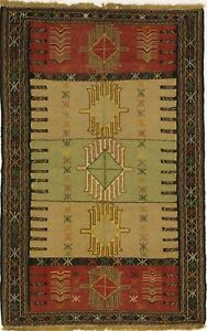 Gorgeous Tribal Hand Woven Flat Weave Sumak Persian Area Rug Oriental Carpet 4x6