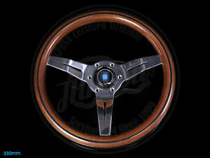 Nardi Sport Rally Deep Corn Wood Steering Wheel Polish Spoke 330mm Brand New
