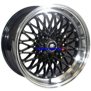Mst Wheels Mt16 15 X 8 20 Black Machine Lip Rims 4x100 Stance Acura Integra Gsr