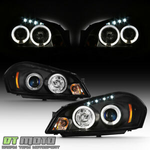 Black 2006 2013 Chevy Impala Led Halo Projector Headlights Headlamps Left right