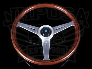 Nardi Classic Wood Grain Steering Wheel Satin Spoke 360mm 14 Inches Brand New