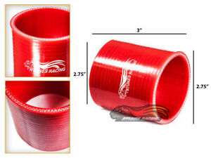 Red 2 75 70mm 3 Ply Silicone Coupler Hose Turbo Intake Intercooler Sb Sc