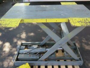Southworth L4 36 Electric Hydraulic Scissor Cam Lift Table 115v 4000 Lb 53 X 40