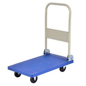 220 Lbs Platform Cart Fold Dolly Hand Truck W Universal Wheel Directional Wheel