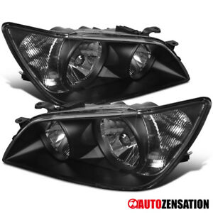 For 01 05 Lexus Is300 Replacement Black Front Headlights Driving Head Lamp Pair