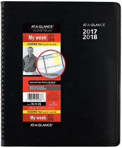 At a glance Academic Weekly Monthly Planner July 2017 July 2018 8 X