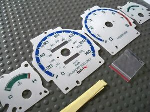 90 93 Manual Automatic Acura Integra White Glow Through Cluster Face Gauges