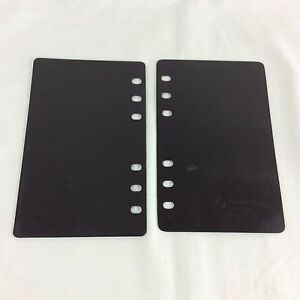 2 End Boards Page Lifter Saver Compact Franklin Covey Planner Binder Black Back