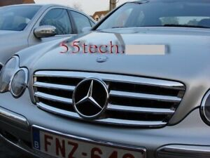 Mercedes Benz W203 Grill C230 C320 C240 Grille Chrome 2001 2007 Amg 4 Fins Ch