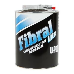 U Pol 700 Fibral Lite Sandable Fiberglass Auto Body Filler Paste 3 Liters Up0700