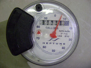 New Neptune Water Meter Auto G65n 2 T 10 Register Head Gallons 1204 3732