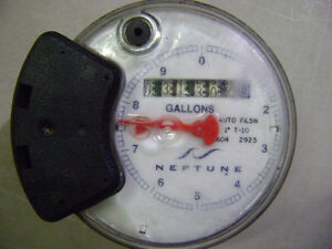 New Neptune Water Meter Auto F65n 1 T 10 Register Head Gallons 0604 2925