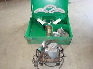 Greenlee 777 Rigid Conduit Bender W Electric Pump