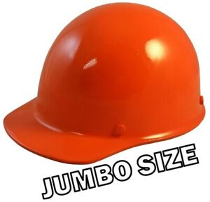 Msa Skullgard large Shell Cap Style Hard Hats With Ratchet Suspension Orange