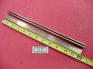3 Pieces 1 8 X 3 4 C110 Copper Bar 12 Long Solid Flat Mill Bus Bar Stock H02