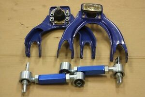 Blue Front Upper A arm rear Camber Kit Civic Del Sol Integra Dc2 Eg Eg6 Ej Ej1