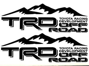 2x Toyota Racing Development Trd Off Road Decal Sticker Vinyl 4x4 Tacoma Tundra