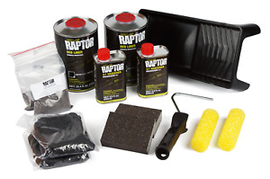U Pol 5010 Raptor Black Urethane Roll On Truck Bed Liner Kit W Roller Up5010