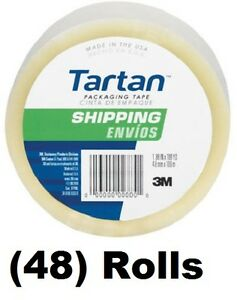 48 Ea 3m Tartan 3710 dc 1 88 X 54 6 Yd Clear Packing Packaging Shipping Tape