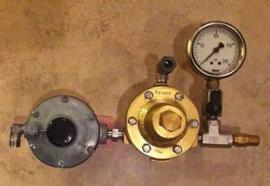 Meco Type P Regulator With Catco Fisher Reg 912n 194 Gauge And Relief Valve