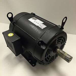 Weg 10 Hp 1800 Rpm Odp 200 Volts 215t 3 Phase Motor New Surplus