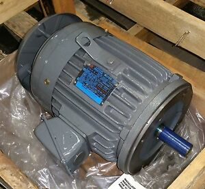Teco 1 5 Hp 1200 Rpm Tefc 230 460 Volts 182tc 3 Phase Motor New Surplus