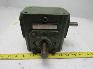 Ohio Gear B 175 Right Angle Double Shaft Speed Reducer Gear Box 5 1 Ratio